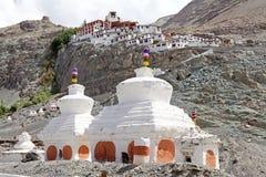 Nubra谷的,拉达克,印度Diskit修道院 库存图片