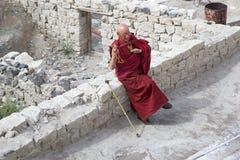 Nubra谷的,拉达克,印度Diskit修道院 免版税图库摄影