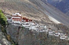 Nubra谷的,拉达克,印度Diskit修道院 免版税库存照片