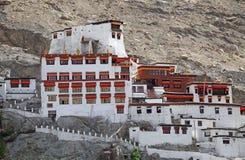 Nubra谷的,拉达克,印度Diskit修道院 库存照片