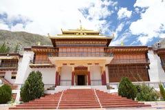 Nubra谷的,拉达克,印度Samstanling修道院 库存照片