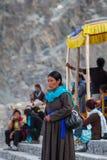 NUBRA, INDIA-SEPTEMBER 5 :拉达克人5日2011年在Nubra,印度 免版税图库摄影