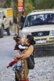 NUBRA, INDIA-SEPTEMBER 5 :拉达克人5日2011年在Nubra,印度 库存图片