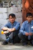 NUBRA, INDIA-SEPTEMBER 6 :拉达克人6日2011年在Nubra,印度 库存照片