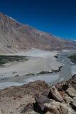 Nubra dal i Ladakh Arkivfoto