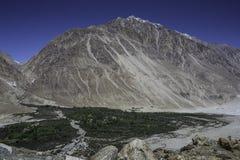 Nubra dal, Ladakh, Indien Arkivfoto