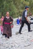 NUBRA, INDE 5 SEPTEMBRE : Personnes 5, 2011 de Ladakh dans Nubra, Inde Photo libre de droits
