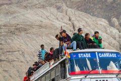 NUBRA, INDE 5 SEPTEMBRE : Personnes 5, 2011 de Ladakh dans Nubra, Inde Photo stock