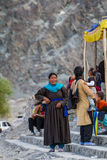 NUBRA, INDE 5 SEPTEMBRE : Personnes 5, 2011 de Ladakh dans Nubra, Inde Image stock