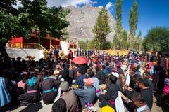 NUBRA, INDE 6 SEPTEMBRE : Personnes 6, 2011 de Ladakh dans Nubra, Inde Photo libre de droits