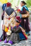 NUBRA, INDE 6 SEPTEMBRE : Personnes 6, 2011 de Ladakh dans Nubra, Inde Images libres de droits