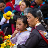 NUBRA, INDE 6 SEPTEMBRE : Personnes 6, 2011 de Ladakh dans Nubra, Inde Photo stock