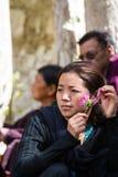 NUBRA, INDE 6 SEPTEMBRE : Personnes 6, 2011 de Ladakh dans Nubra, Inde Image stock