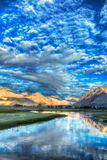 Nubra river in Nubra valley in Himalayas Stock Photography