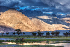 Nubra river in Nubra valley in Himalayas Stock Photo
