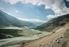 Nubra-Tal, Leh, Indien lizenzfreies stockfoto