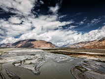 Nubra valley and river in Himalayas, Ladakh Royalty Free Stock Images