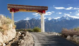 Nubra valley and Samstanling monastery Royalty Free Stock Photo