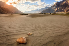 Nubra Valley sand dunes Stock Image