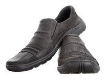 Nubuck gehende Schuhe der Männer Stockfoto