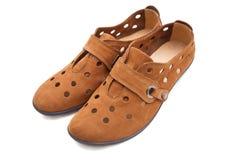 nubuck schoenen Royalty-vrije Stock Foto