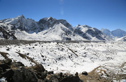 Nuche summit beside of everest from kallapather summit Royalty Free Stock Photos