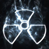 Nuclear. Illustration of the nuclear sign in smoke Royalty Free Stock Photography
