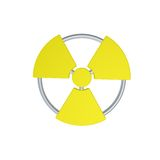 Nuclear. Symbol on white background - 3d illustration Royalty Free Stock Image