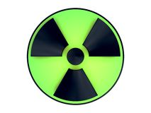 Nuclear. 3D representation of a nuclear clover symbol, in relation with concepts such as radioactivity, atomic technologies, nuclear power, pollution, radiations Stock Images