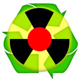 Nuclear accident. Waste recycling icon isolated over white background Stock Photo