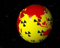Nuclear africa asia Royalty Free Stock Image
