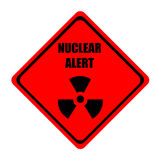 Nuclear alert. Warning sign indicating a nuclear alert Stock Photography