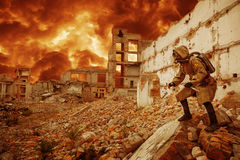 Nuclear apocalypse survivor Royalty Free Stock Images