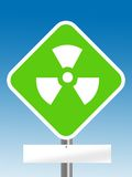 Nuclear area with blank board Stock Image