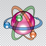 Vector nuclear atom icon Royalty Free Stock Images