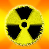 Nuclear atomic bomb. Nuclear or atomic warning sign thats exploding or symbol. Indicates radioactive waste, power, war and explosion. an a bomb Stock Photos