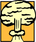 Nuclear atomic explosion cloud vector illustration Stock Images