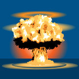 Nuclear Blast. Mushroom explosion cloud Stock Images