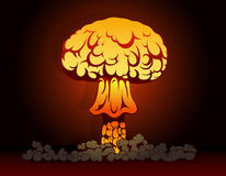 Nuclear bomb explosion vector illustration