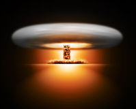Nuclear bomb explosion on background Royalty Free Stock Image