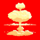 Nuclear bomb explosion  background. Nuclear bomb in red explosion  background Royalty Free Stock Photos