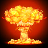 Nuclear bomb explosion. Illustration of Nuclear bomb explosion Stock Photos