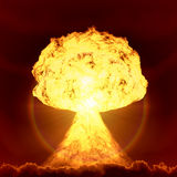 Nuclear bomb explosion. An image of a nuclear bomb explosion Royalty Free Stock Photo