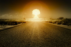 Nuclear bomb explosion royalty free illustration