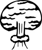 nuclear bomb explosion vector illustration Royalty Free Stock Photo