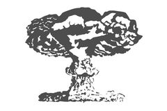 Nuclear bomb Nuclear explosion Royalty Free Stock Photography