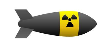 Nuclear bomb. With radiation sign. Vector available Royalty Free Stock Image