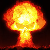 Nuclear bomb with skull Stock Photos