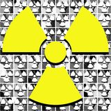 Nuclear clover on texture in grey tones Royalty Free Stock Photos