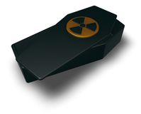 Nuclear coffin Royalty Free Stock Images